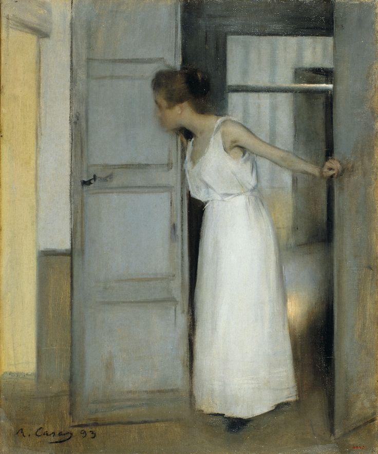 Summer (study) or Primero pasarás sobre mi cadáver (Over My Dead Body) by Ramon Casas, 1893