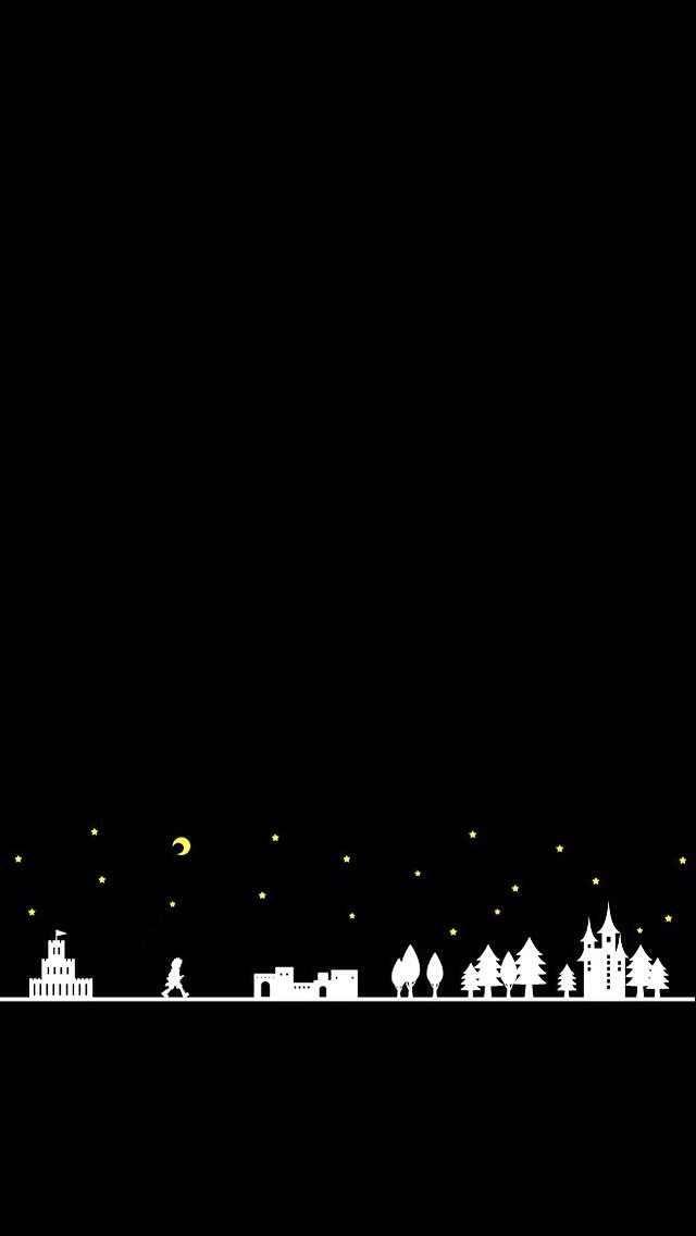 black city iPhone wallpaper