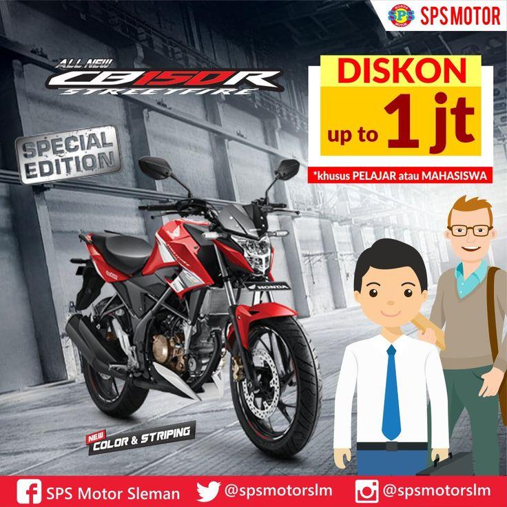Diskon Honda CB150R khusus Pelajar dan Mahasiswa