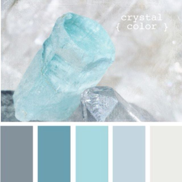 Grey and blue bedroom colors. Grey walls, white trim,  blue embellishments.