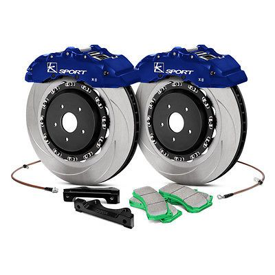 Performance / Racing Slotted Front Big Brake Kit Blue 8-Piston KSport