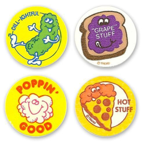 Scratch and sniff stickers were bitchin. =)