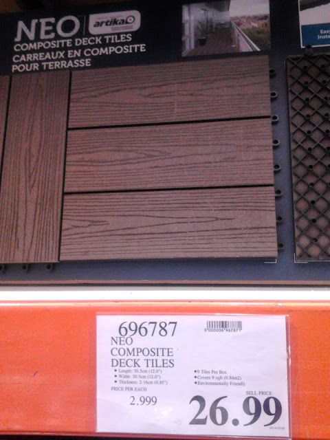 Patio Deck Tiles Recycled Rubber: Deck Tiles Costco - Front Patio!