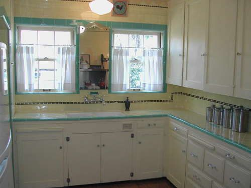 Cute 1930s Kitchen Tiled Countertops Pinterest
