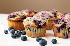 Borůvkové muffiny ze špaldové mouky