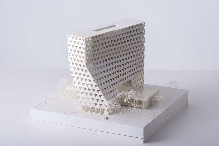 XDGA – Province Headquarters, Antwerp, photo Frans Parthesius, architectural model