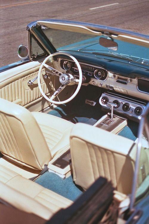 inspiration | car | vintage | mustang | interior |…