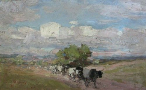 Nicolae Grigorescu - Peisaj cu cireada