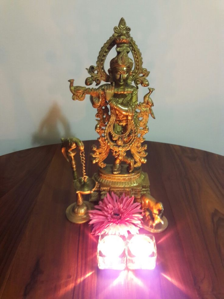 #Brass and diya. #Srikrishna. #Brasslove. #Indianhomedecor. #brassstatue. #Parrotdiya.