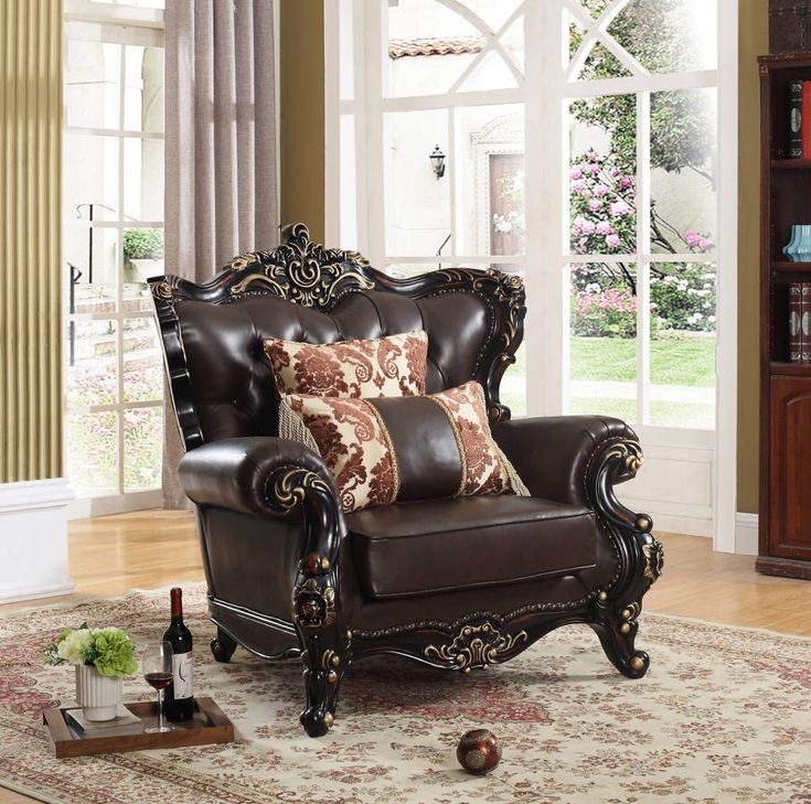 Barcelona Brown Bonded Bonded Leather Chair