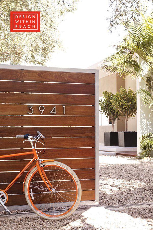 Neutra Modern House Numbers Wooden Garden Gate Modern Fence