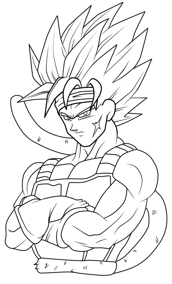 Dragonball af coloring pages ~ Bardock DBZ Coloring Sheets and Lineart - Enjoy Coloring ...
