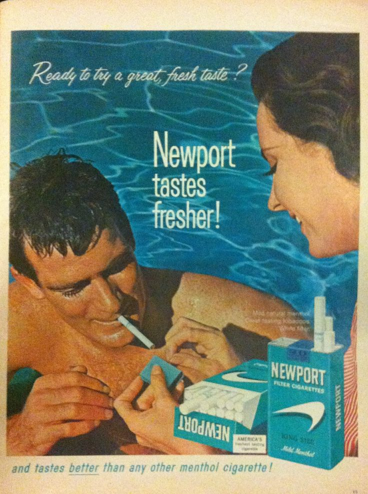 Newport cigarettes ad from life magazine