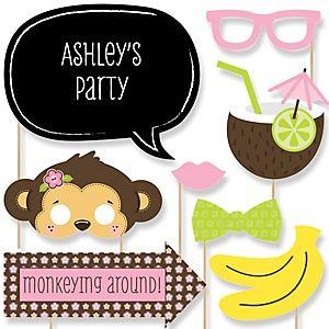 Monkey Girl - Baby Shower Theme | BigDotOfHappiness.com