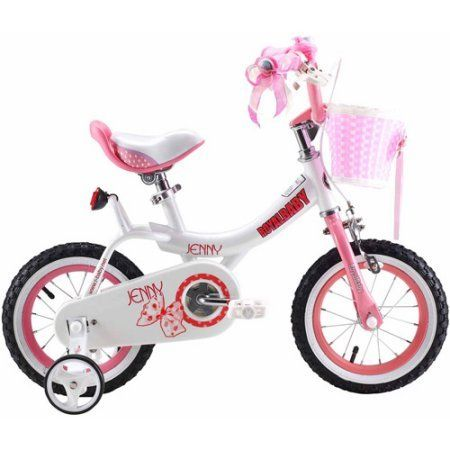 Royalbaby Jenny Princess Pink Girls Bike with Training Wheels and Basket Perfect Gift for Kids (Pink 16 inch)