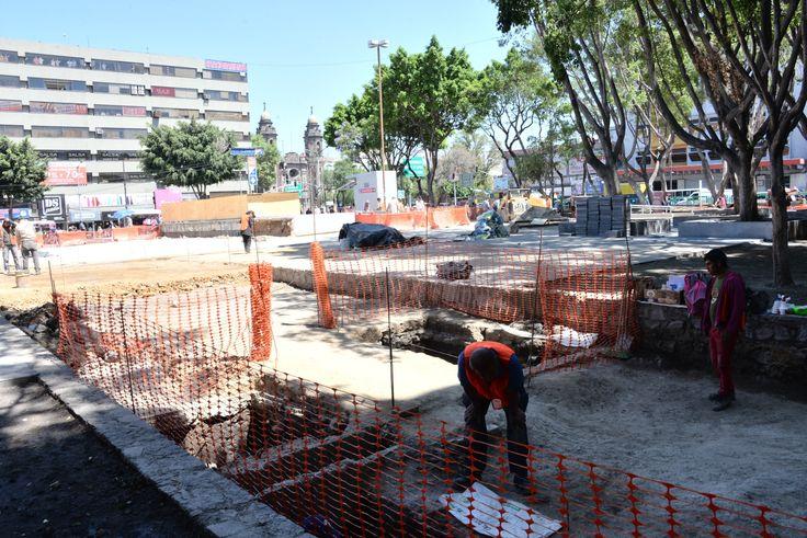 HALLAN VESTIGIO CEREMONIAL DE UN CALPULLI MEXICA EN LA PLAZA PINO SUÁREZ