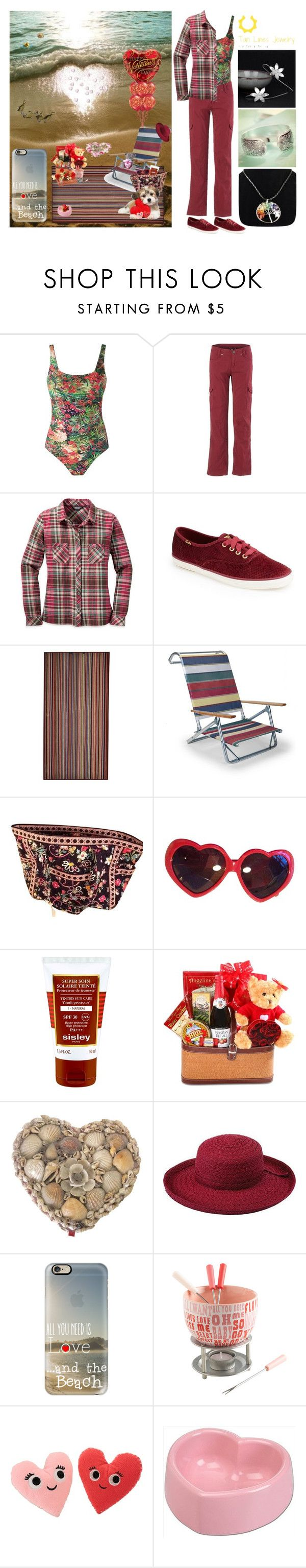 """A Beachy Valentine with Tan Line Jewelry"" by pinky-dee ❤ liked on Polyvore featuring Keen Footwear, Lygia & Nanny, Kuhl, Keds, Paul Smith, Telescope Casual, Vera Bradley, Moschino, Sisley and PANTROPIC"