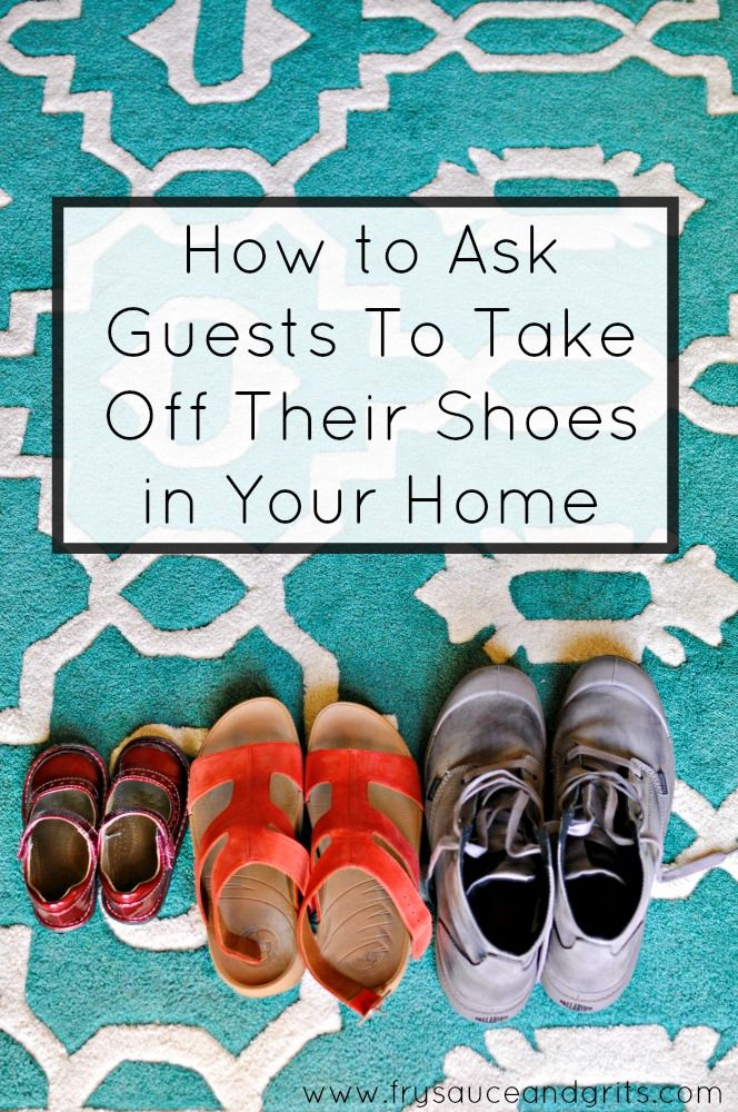 """Have a """"no shoe"""" policy in your home, check out these 12 creative ways on how you can politely ask your guests to take off their shoes in your house!"""
