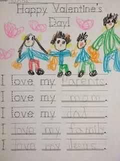 Kindergarten Valentine's Writing...Predictable charts