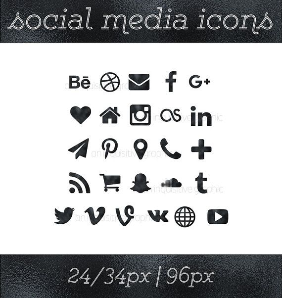 The 20 best social media icons images on pinterest social icons social media icons black icons black button social icons website icons blog icon resume icons business card icon social media button reheart Gallery