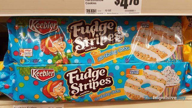 Keebler Limited Batch Birthday Cake Fudge Stripes Cookies ...