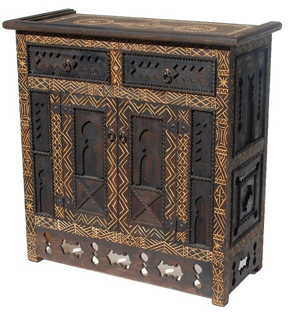 African cabinet beautiful moroccan pieces pinterest for African american furniture designers