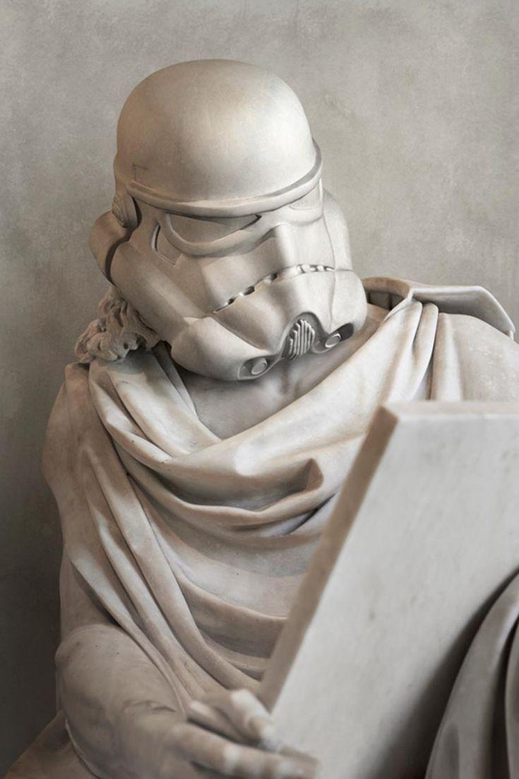 Quand les personnages de Stars Wars rencontrent les sculptures de la Grèce antique, une superbe série de créations de l'artiste françaisTravis Durden, don