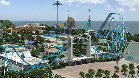 The Gatekeeper winged coaster will fly over Cedar Point's front entrance as the new icon of the Ohio amusement park.