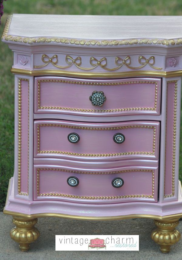 Disney Inspired Girls Nightstand With Modern Masters