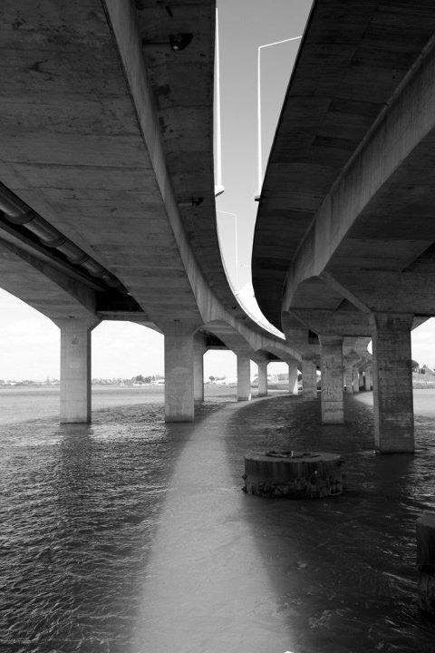 Under Mangere Bridge (the new ones).