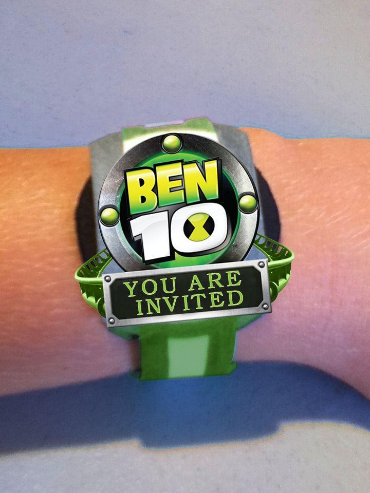 Omnitrix Ben 10 invitation #DIY #Crafts