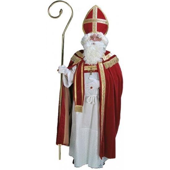 Voordelig Sinterklaas pak voor heren  Sinterklaas kostuum compleet. Mooi compleet Sinterklaas kostuum met een voordelige prijs! Dit kostuum bestaat uit de witte habijt (jurk) met touw de mantel met pelerine de sjerp en de mijter. Heren maat one size fits most. Materiaal: 100% polyester. Exclusief staf handschoenen baardstel en overige accessoires (los verkrijgbaar).  EUR 149.95  Meer informatie  #sinterklaas #zwartepiet