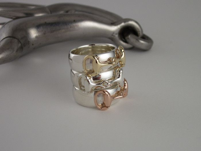 ER14a - Half Round Band Two Tone Snaffle Bit Ring