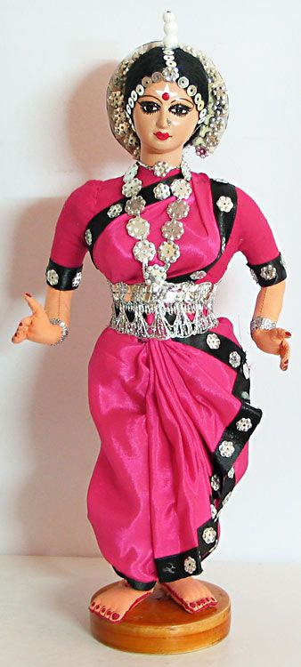 Odissi Classical Dancer from Orissa, India - Costume Cloth Doll