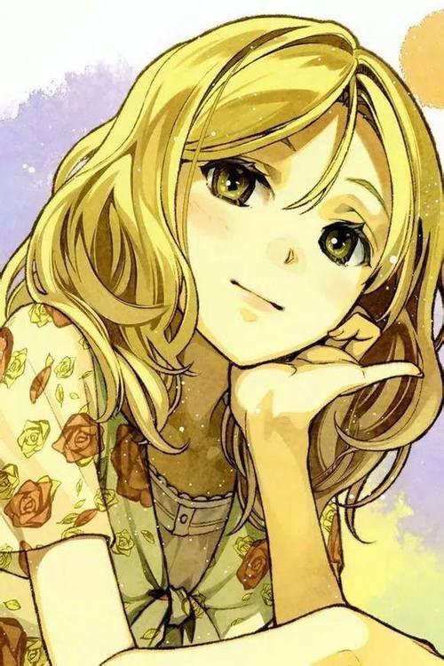 Cartoon Characters Yellow Hair : Best blonde anime girl ideas on pinterest