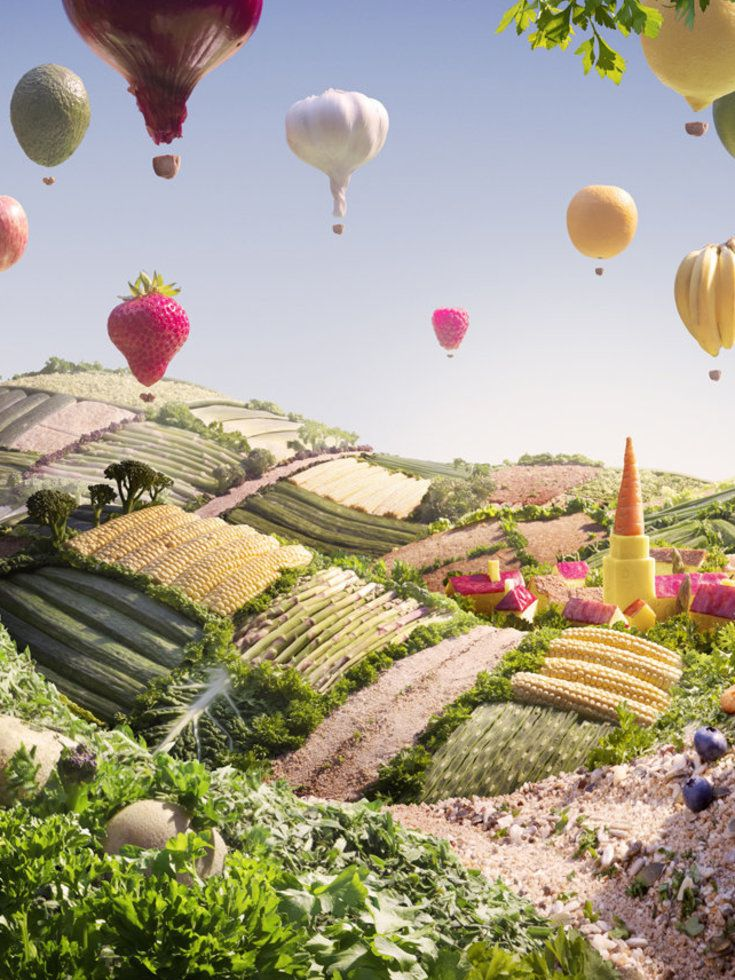 I see the wheat thins - food landscape