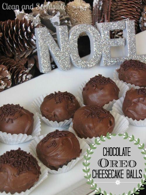 Chocolate Oreo Cheesecake Balls.