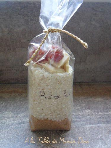 Un délicieux Kit fait maison pour préparer un délicieux riz au lait. On trouve énormément de kit différents sur la toile. J'en ai testé quelques uns dont j'écrirais les recettes sur ce blog. Pour un kit de riz au lait : entre 70 et 80g de sucre (en fonction...