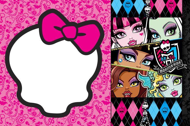 Monster High Free Printables | Convite Monster High