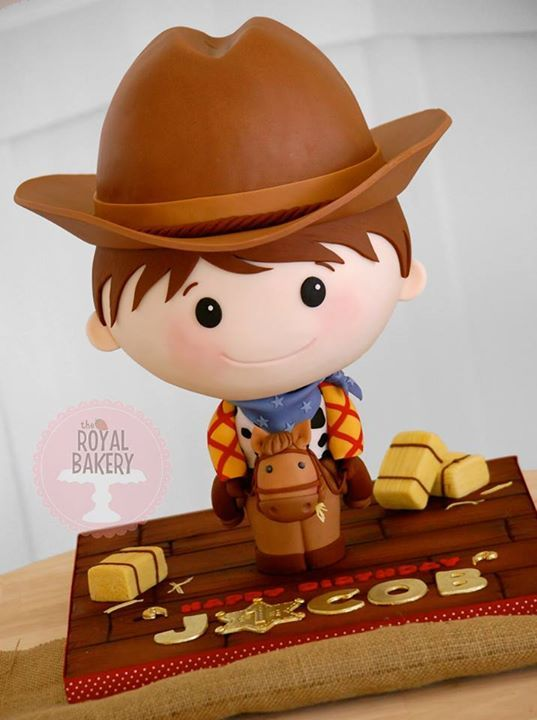 Awesome Chibi Sheriff Woody Cake made by The Royal Bakery