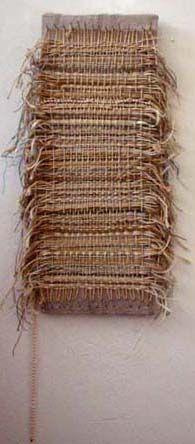 Louisa Jane - beads, yarn, hair, sticks, rope, nails,paint brushes, mixed media