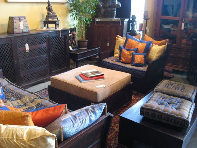 Inspired Indian Living Room Set With Hand Carved Wooden Sofas Made