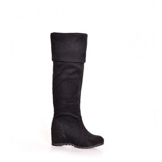 Dámske zimné vysoké čižmy nad kolená - fashionday.eu
