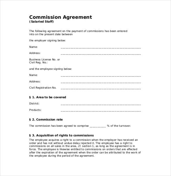 Image Result For Letter Of Commission Agreement