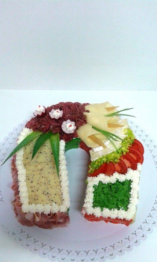 Slaný dort podkova