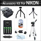 Accessory Kit For Nikon Coolpix L100, L110, L120, L310, L810, L820, L620 Digital Camera Includes USB 2.0 High Speed Card Reader + 4AA High Capacity Rechargeable NIMH Batteries And Rapid Charger + Case + Tripod + Screen Protectors + Flexible Tripod + More Reviews - #Accessory, #Batteries, #Camera, #Capacity, #Card, #Case, #Charger, #Coolpix, #Digital, #Flexible, #High, #Includes, #L100, #L110, #L120, #L310, #L620, #L810, #L820, #More, #NIKON, #NIMH, #Protectors, #Rapid, #Reade
