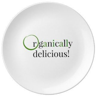 Organically Delicious Porcelain Plate