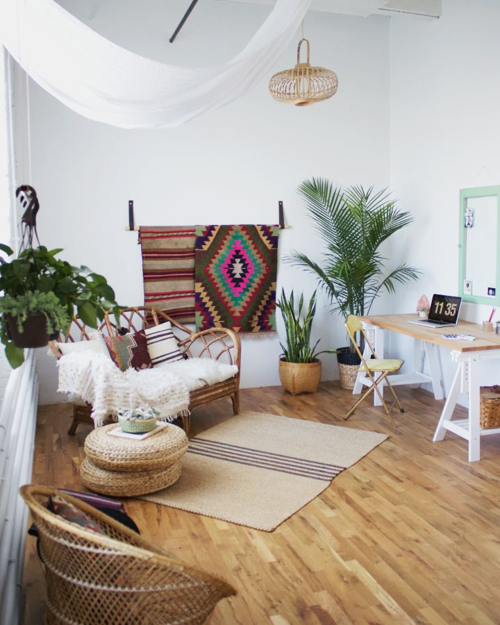 9 best boho office and bohemian workspaces images on - Boho chic living room decorating ideas ...