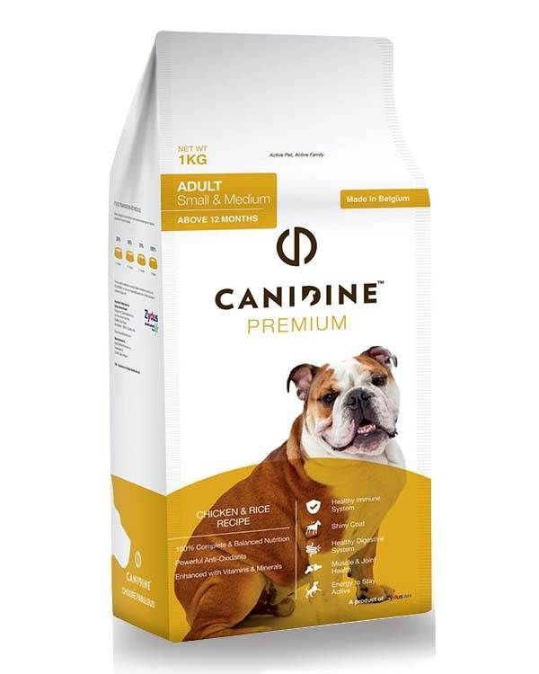 Canidine Adult Dog Food Chicken Rice For Small Medium 3 Kg