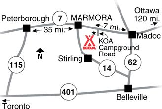 Marmora KOA   Camping in Ontario   KOA Campgrounds